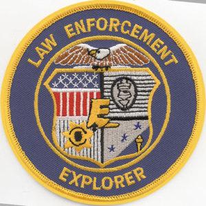 """4"""" Law Enforcement Explorer Patch-"""