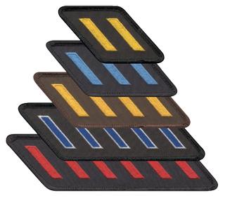 Embroidered Slanted Hask Marks Twill W/Merrowed Border-Premier Emblem