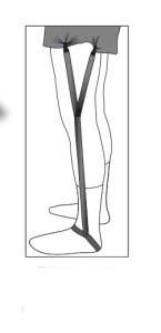 Footloop Shirt Garters-