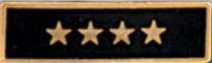 Enameled 4 Star Black-Premier Emblem