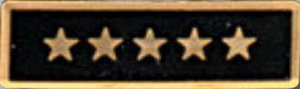 Enameled 5 Star Black-Premier Emblem