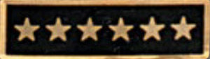 Enameled 6 Star Black-Premier Emblem