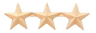 "5/8"" Corrugated Stars-Premier Emblem"