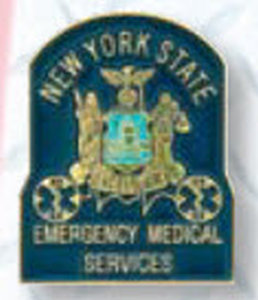 State E.M.T. Collar Device Or Tie Tac-Premier Emblem
