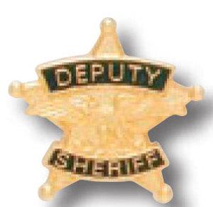 Deputy Sheriff 5 Point Star Tie Tac-Premier Emblem