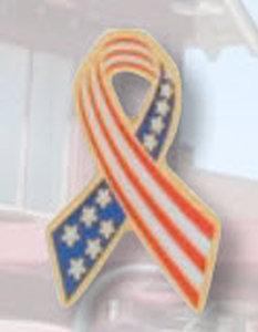 American Flag Ribbon Pin-Premier Emblem