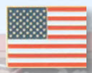 American Flag Pin-Premier Emblem