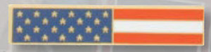American Flag (Long) Rectangle-Premier Emblem