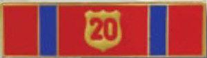 Twenty years - 1 3/8 x 3/8-