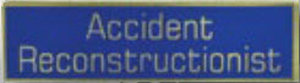 ACCIDENT RECONSTRUCTIONIST - 1 3/8 x 3/8-Premier Emblem