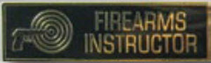 FIREARMS INSTRUCTOR - 1 3/8 x 3/8-Premier Emblem