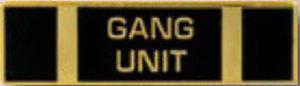 GANG UNIT - 1 3/8 x 3/8-Premier Emblem