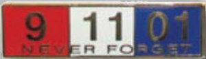 NEVER FORGET - 1 3/8 x 3/8-Premier Emblem