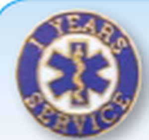 "3/4"" FIRE/EMS Years of Service Pins-"
