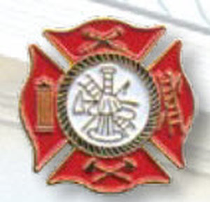 EMS And Fire Tie Tac - Maltese Cross-