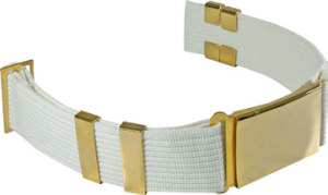 Delux Parade Belt With Eyelets, Large Buckle and 4 Keepers-Premier Emblem