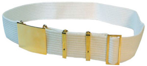 Parade Belt With Eyelets, Large Buckle,4 Keepers-