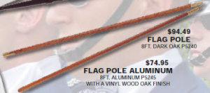 Flag Pole Aluminum 8ft.-