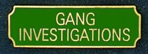 Gang Investigations-