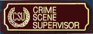 Crime Scene Supervisor-