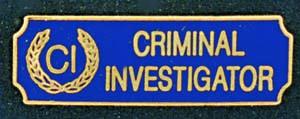 Crime Investigator-Premier Emblem