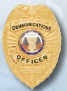Communications Officer Badge-Premier Emblem