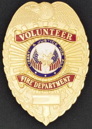 Volunteer Fire Department Eagle Shield-Premier Emblem