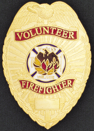 Volunteer Fire Fighter Eagle Shield-