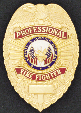 Professional Fire Fighter Eagle Shield-