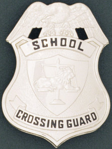 Lion Scale Of Justice Shield - School Crossing Guard-