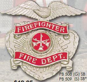 Fire Fighter Fire Dept. Eagle Cut Out-Premier Emblem
