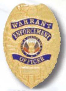 Warrant Enforcement officer Badge-