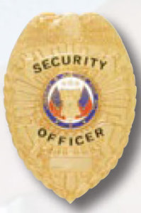 Security Officer Shield 2 Panel Badge-
