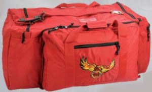 Large Fire Duffel Bag-Premier Emblem