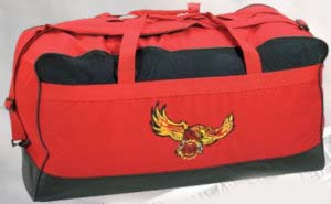 Large Fire Duffel Bag W/Mesh-
