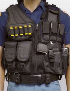 Cross Draw Tactical Vest Style # PBG-320-Premier Emblem