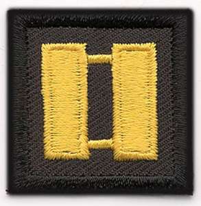 1 1/4 x 1 1/4 Captain - Mini-Premier Emblem