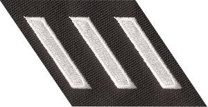 Slanted Hash Mark Twill on Strip-Premier Emblem