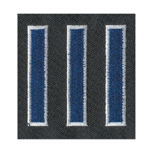 "1/2"" X 2"" Deluxe Straight Hash Mark Twill On Strip-Premier Emblem"