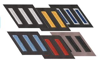 Slanted Hash Mark Felt on Strip-Premier Emblem