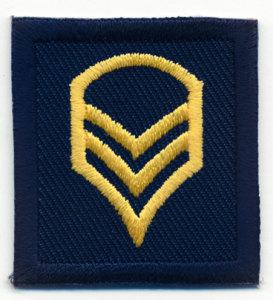 1 1/2 x 1 3/8 Staff Sergeant-Premier Emblem