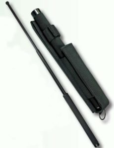 Steel Expandable Baton With Nylon Sheath-Premier Emblem