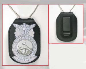 Large Oval Style With Velcro®,Clip and Neck Chain-Premier Emblem