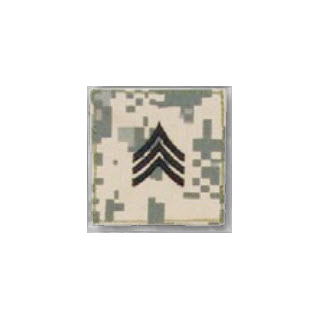 BLACK ACU ranks WT VELCRO - Sergeant-Premier Emblem