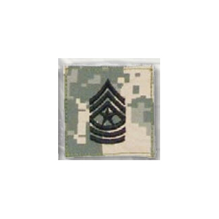BLACK ACU ranks WT VELCRO - Sgt Major-