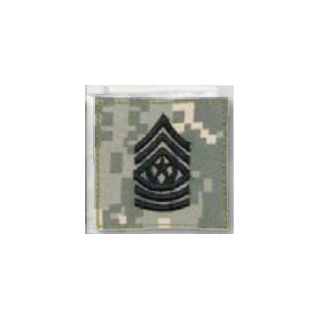 BLACK ACU ranks WT VELCRO - Cmd Sgt. Major-Premier Emblem