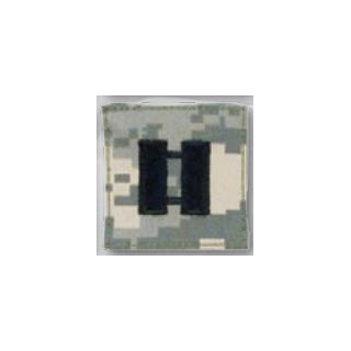 BLACK ACU ranks WT VELCRO - Captain-Premier Emblem