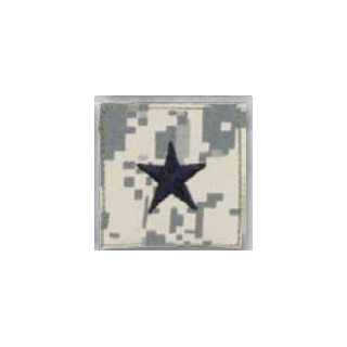 BLACK ACU ranks WT VELCRO - Brig General-Premier Emblem