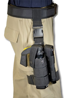 MK-9 Drop Leg Holster w/ Flash Lite Holder-Premier Emblem