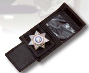 Nylon Police Wallet/ Badge Holder-Premier Emblem